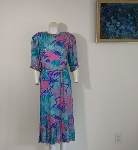 Vintage Judith Ann SILK Neiman Marcus sequin dress